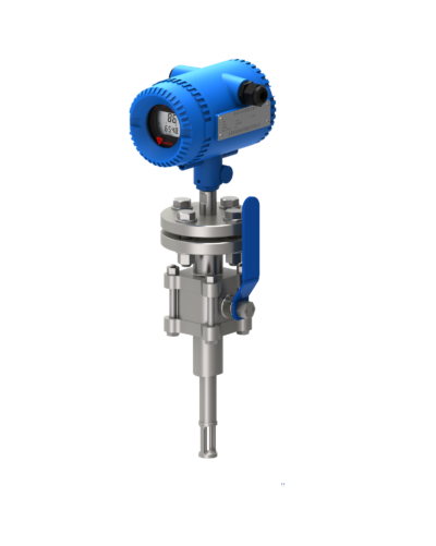 flanged insertion thermal mass flow meter
