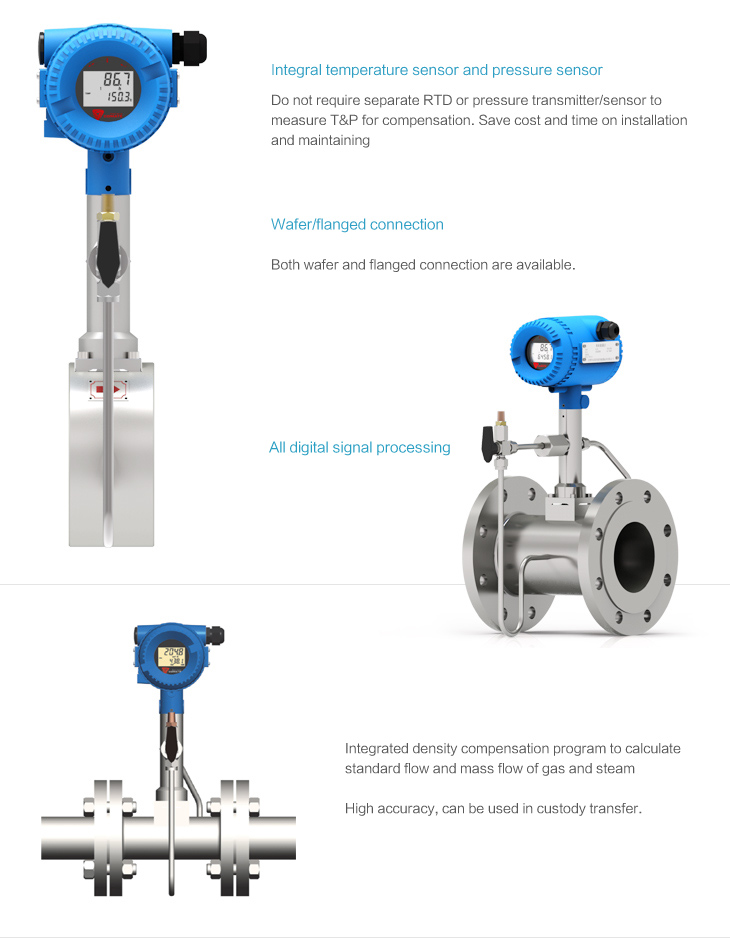 VFM60MV MultiVariable Vortex Flowmeters