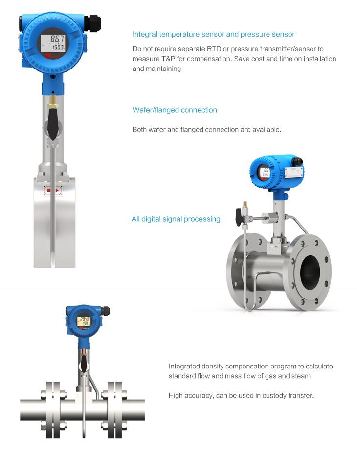 vortex steam flow meter installation