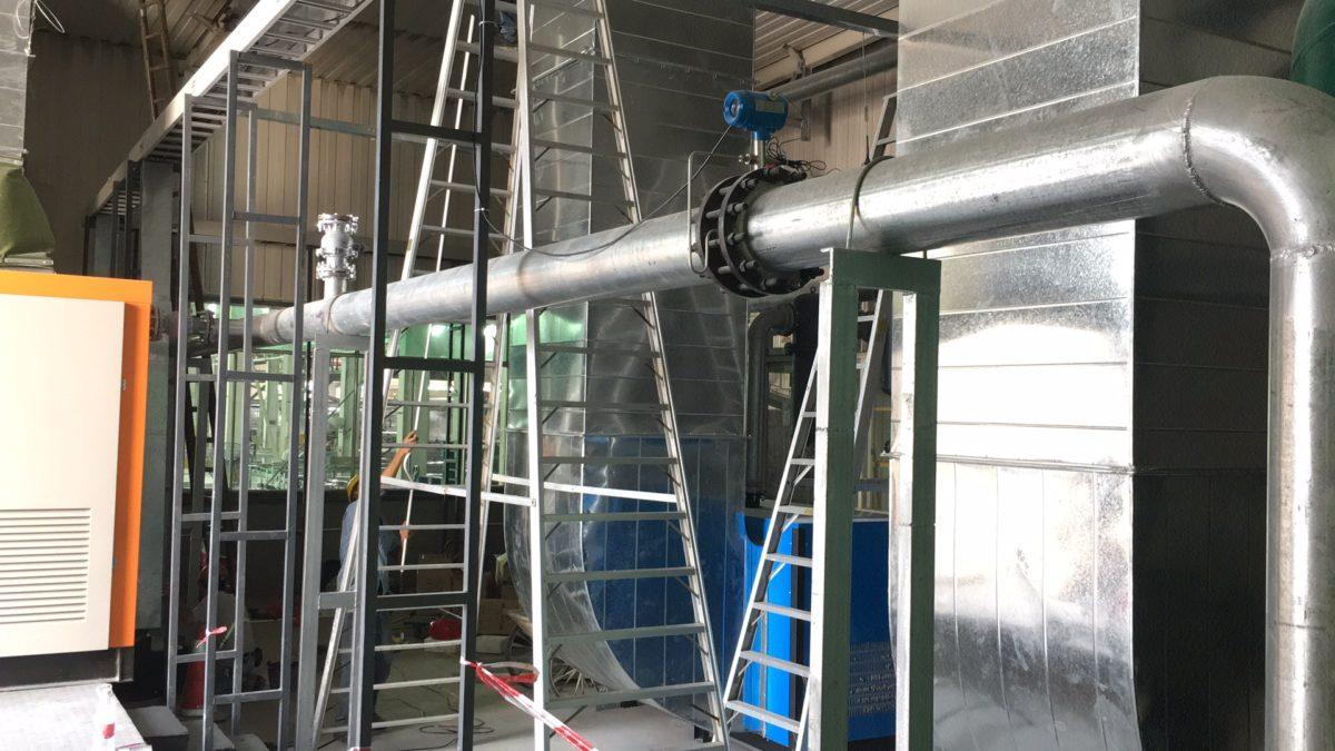 Comate vortex shedding flow meter compressed air measurement