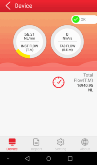 micro flow meter interface