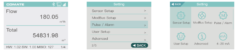 PTF520 screen setting