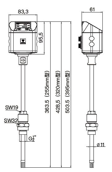 PTF520 air flow meter drawing